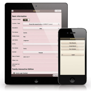 Mobile Funeral Case Management