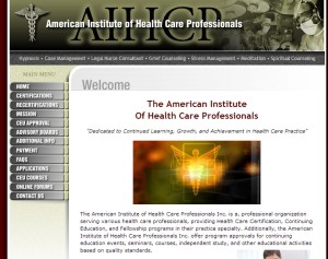 Home page of http://www.aihcp.org/