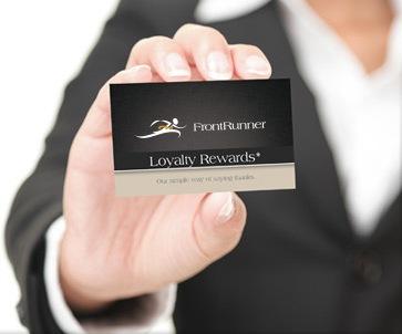FrontRunner Professional Loyalty Rewards Program