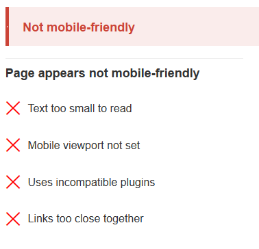 Non-Mobile Friendly