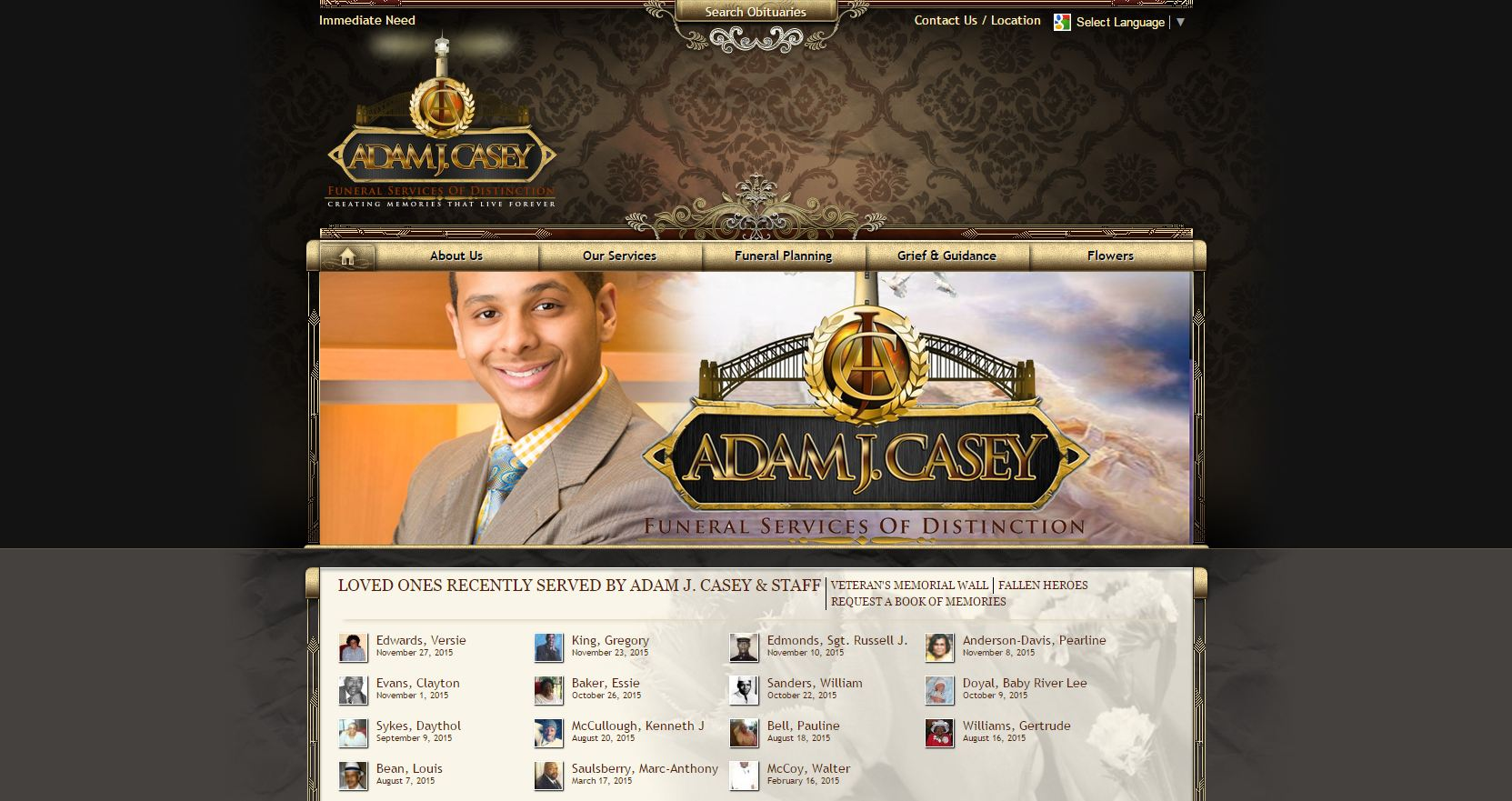 20 Stand-Out Funeral Home Website Designs from 2015 that Have ...