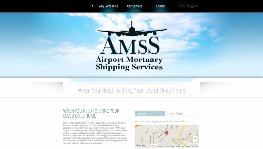 airport mortuary shipping service