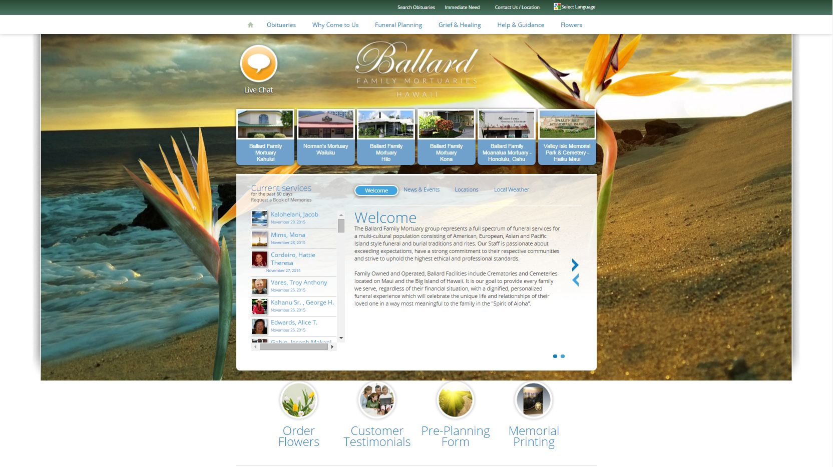 20 stand-out funeral home website designs from 2015 that have people
