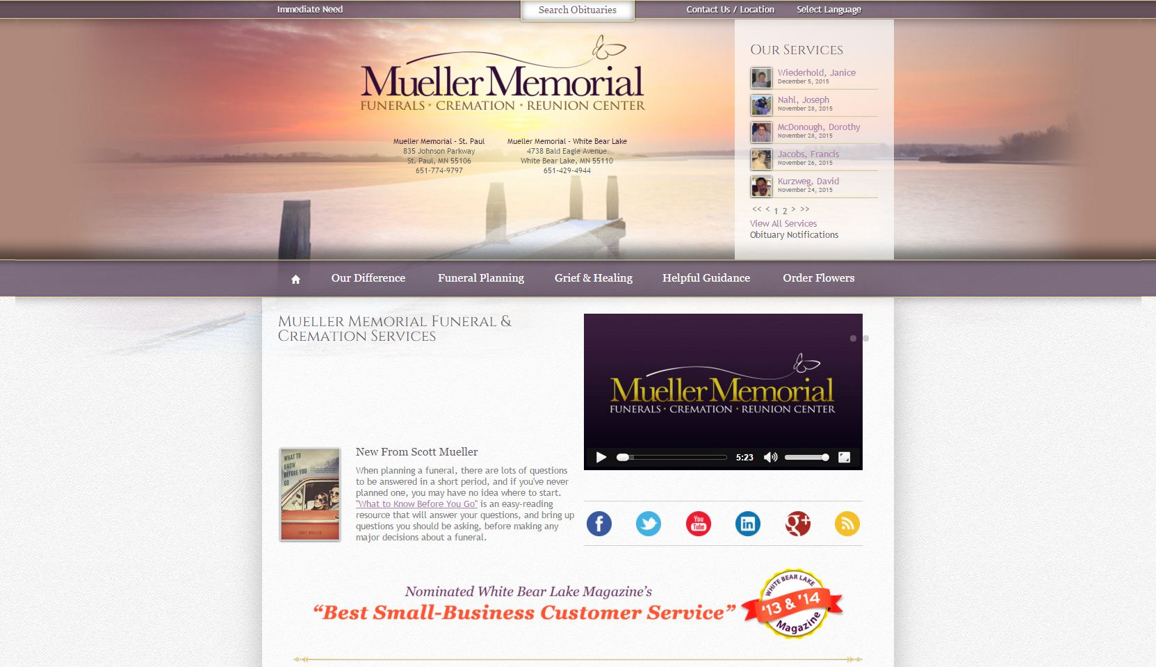 20 Stand-Out Funeral Home Website Designs from 2015 that Have People ...