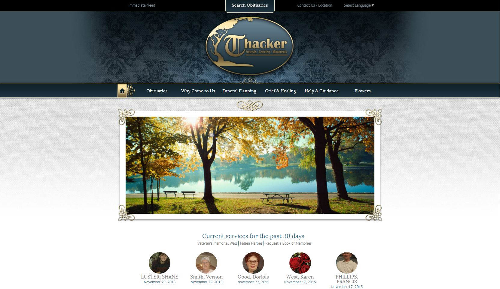 20 stand out funeral home website designs from 2015 that have people talking frontrunner. Black Bedroom Furniture Sets. Home Design Ideas