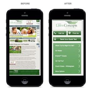 Mobile vs. Non-Mobile Friendly Funeral Home Website