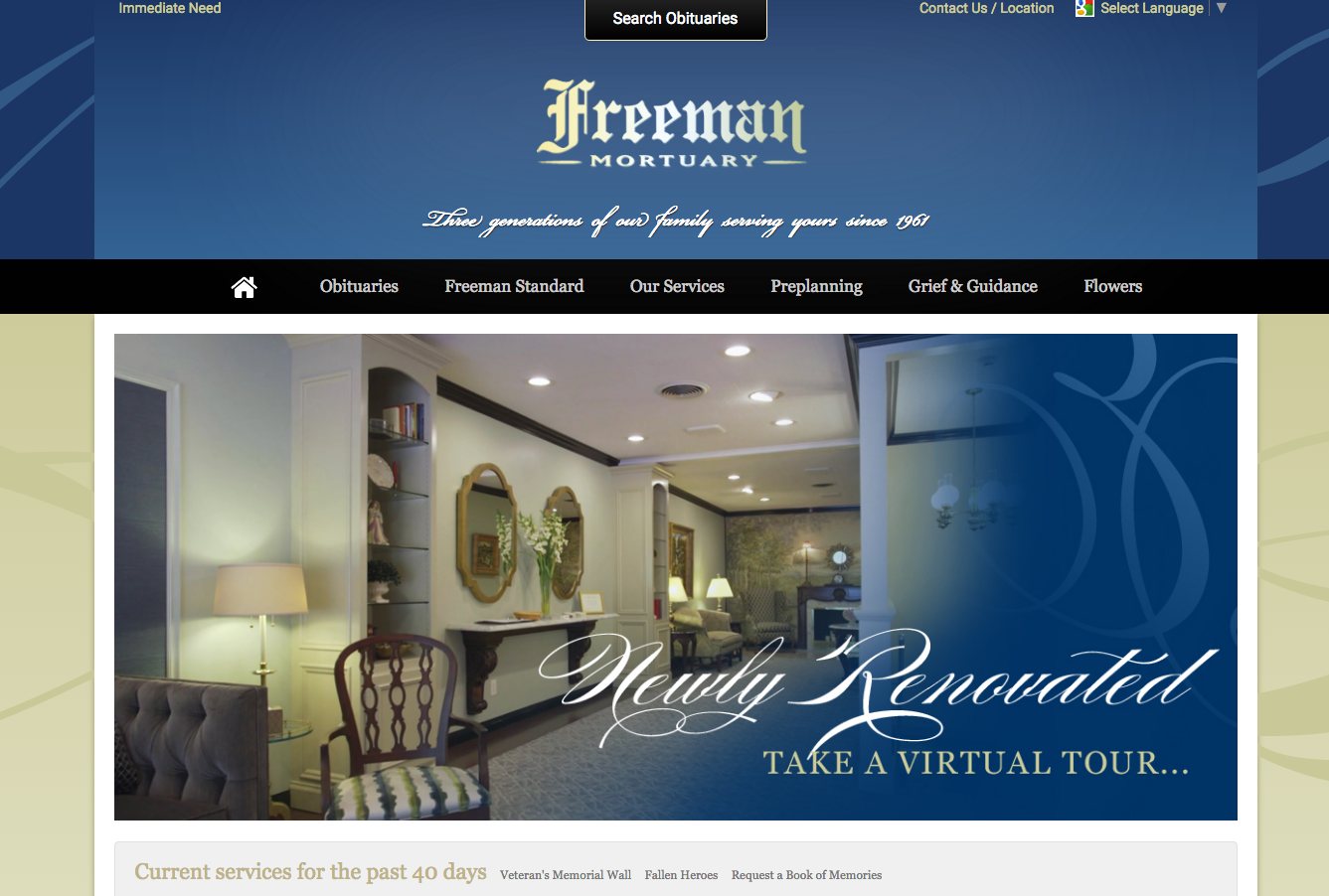 20 funeral home website designs that stood out in 2016. Black Bedroom Furniture Sets. Home Design Ideas