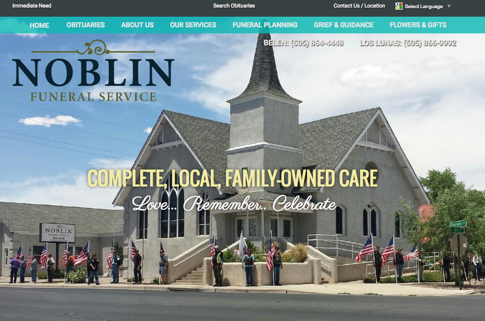 funeral home website