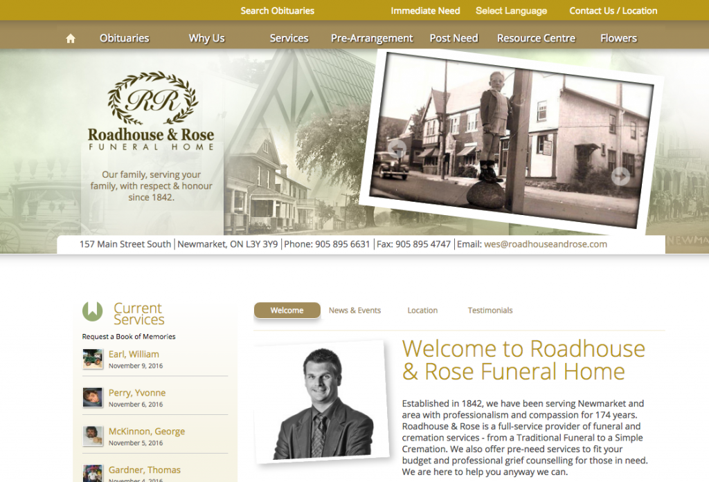 Ordinaire Funeral Home Website