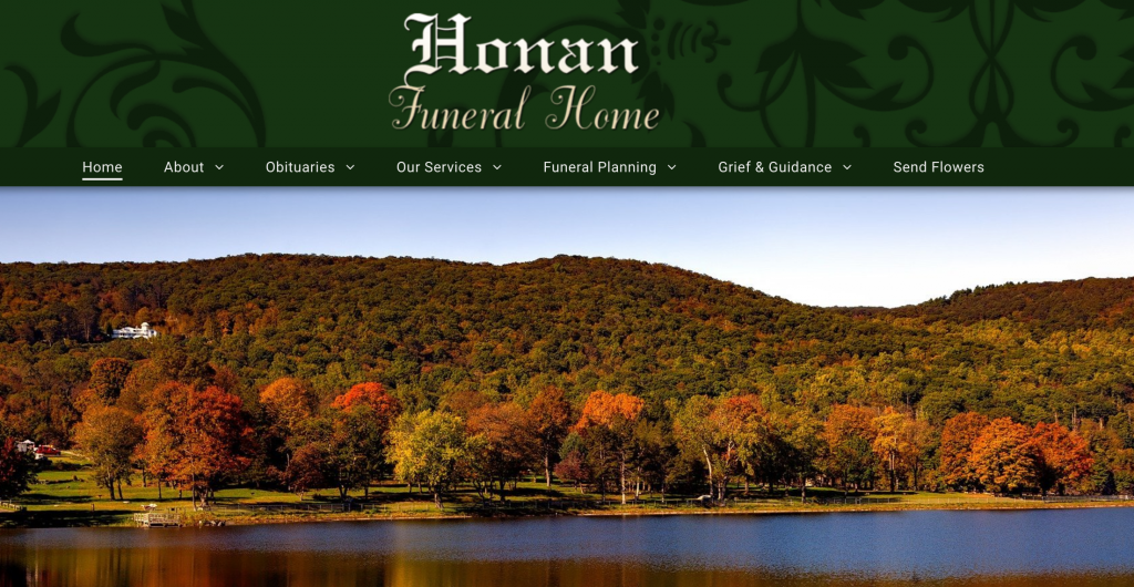 Honan Funeral Home Website Design