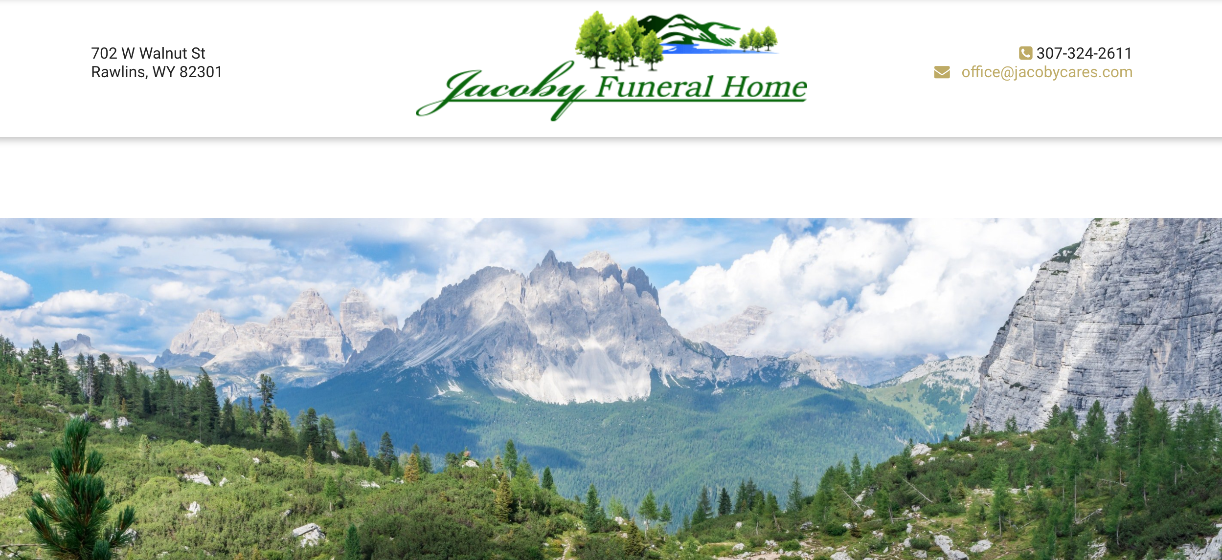 very attractive garden city funeral home missoula mt. Jacoby Funeral Home  Rawlins WY 20 Website Designs We Loved In 2017