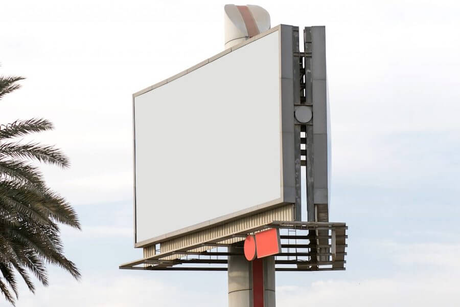 billboard funeral home advertising