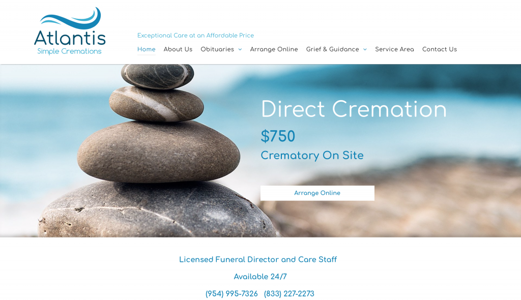 Atlantis Simple Cremation Website