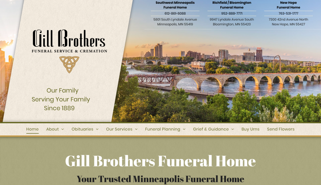 Gill Brothers funeral site