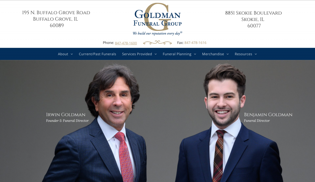 Goldman Funeral Website