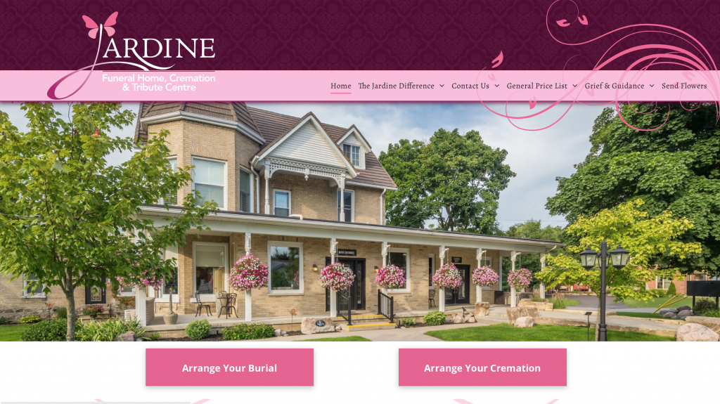 Jardine Funeral Home website