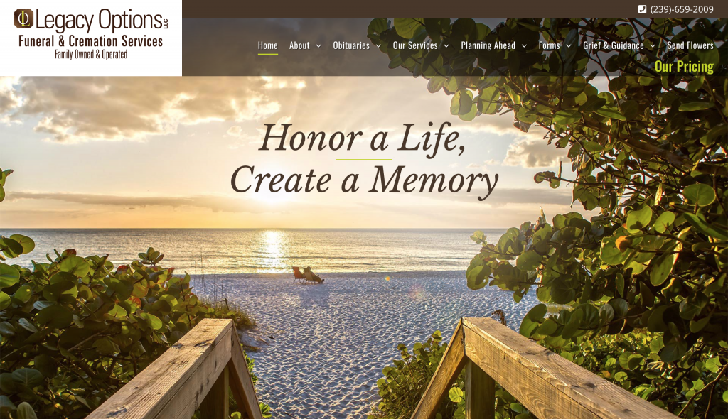 Legacy Options Website Design