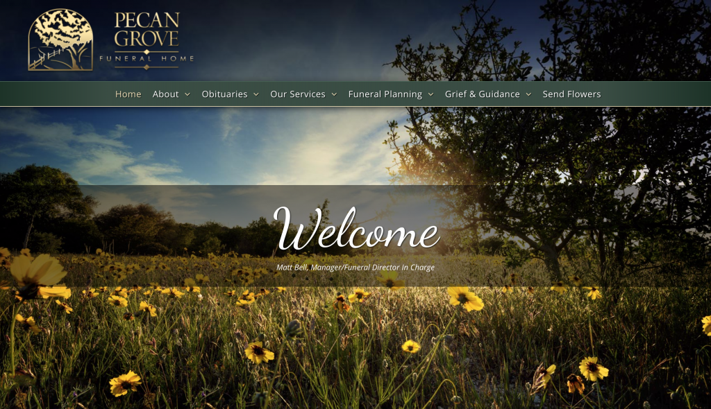 Pecan Grove funeral website