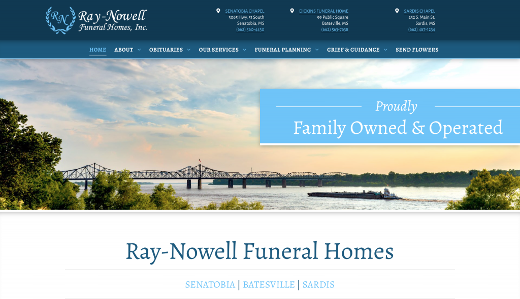 Ray-Nowell Funeral Home website